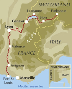 river rhone cycle route: mike wells
