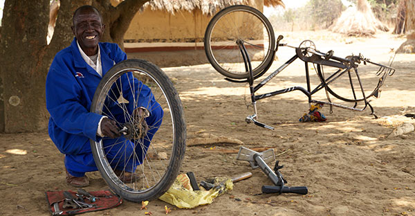 world bicycle relief field mechanic