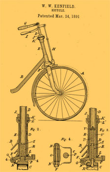 first bicycle suspension