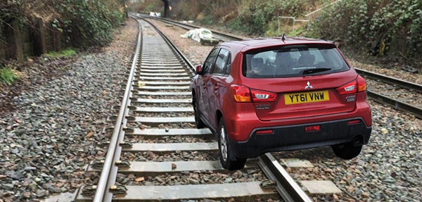 car on railway