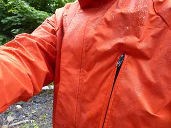 hilltrek greenspot single ventile lightweight jacket