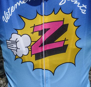 santini team z jersey and shorts