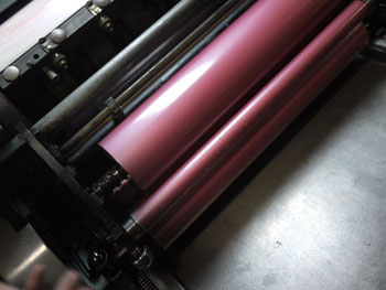 lead graffiti vandercook press