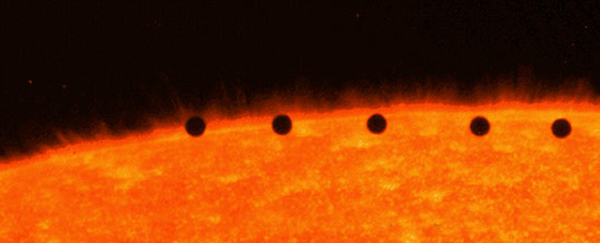 mercury crossing the sun